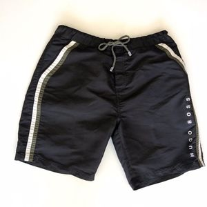 Hugo Boss Black Side Stripes Mens Trunk Swim Trunk